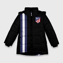 Куртка зимняя для девочки FC Atletico Madrid: Blue Line цвета 3D-черный — фото 1