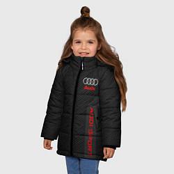 Куртка зимняя для девочки Audi: Sport Line цвета 3D-черный — фото 2
