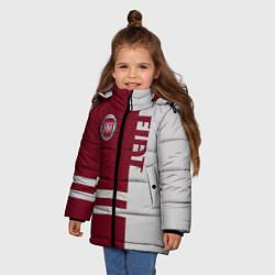 Куртка зимняя для девочки Fiat цвета 3D-черный — фото 2