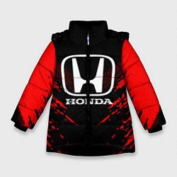 Куртка зимняя для девочки Honda: Red Anger цвета 3D-черный — фото 1