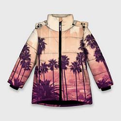 Куртка зимняя для девочки Los Angeles цвета 3D-черный — фото 1