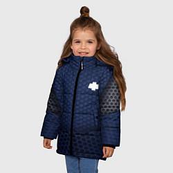 Куртка зимняя для девочки Chevrolet: Sport Motors цвета 3D-черный — фото 2