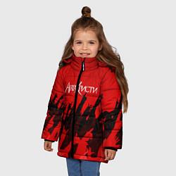 Куртка зимняя для девочки Агата Кристи: Высший рок цвета 3D-черный — фото 2