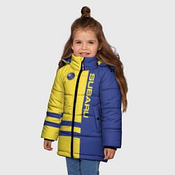 Куртка зимняя для девочки Subaru цвета 3D-черный — фото 2