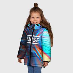 Куртка зимняя для девочки Muse: Colour Abstract цвета 3D-черный — фото 2