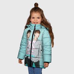Детская зимняя куртка для девочки с принтом Shownu & Kihyun, цвет: 3D-черный, артикул: 10150036506065 — фото 2