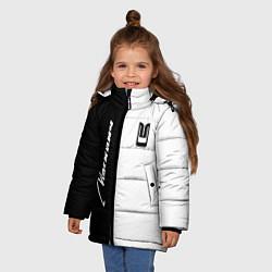 Куртка зимняя для девочки Москвич цвета 3D-черный — фото 2