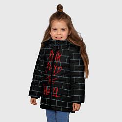 Куртка зимняя для девочки Pink Floyd: The Wall цвета 3D-черный — фото 2