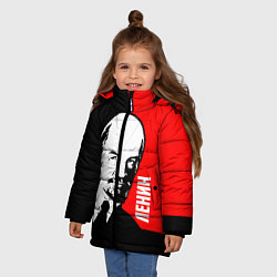 Куртка зимняя для девочки Хитрый Ленин цвета 3D-черный — фото 2