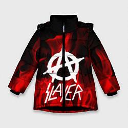 Куртка зимняя для девочки Slayer Flame цвета 3D-черный — фото 1