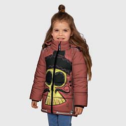 Куртка зимняя для девочки Dia de los Muertos цвета 3D-черный — фото 2
