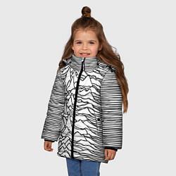 Куртка зимняя для девочки White Pleasures цвета 3D-черный — фото 2