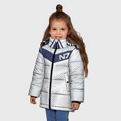 Куртка зимняя для девочки N7: White Armor цвета 3D-черный — фото 2