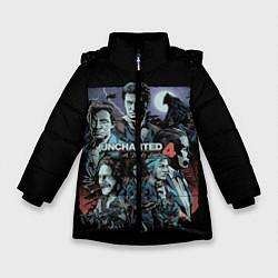 Куртка зимняя для девочки Uncharted 4 цвета 3D-черный — фото 1