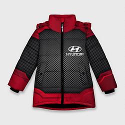 Куртка зимняя для девочки Hyundai: Metal Sport цвета 3D-черный — фото 1