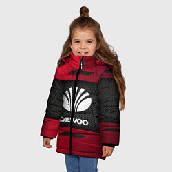 Куртка зимняя для девочки Daewoo Sport цвета 3D-черный — фото 2