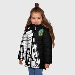 Куртка зимняя для девочки Argentina Team: Exclusive цвета 3D-черный — фото 2