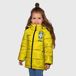 Куртка зимняя для девочки Brazil Team: WC 2018 цвета 3D-черный — фото 2
