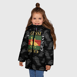 Куртка зимняя для девочки GUSSI Style цвета 3D-черный — фото 2