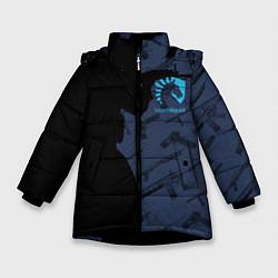 Детская зимняя куртка для девочки с принтом CS:GO Team Liquid, цвет: 3D-черный, артикул: 10154948506065 — фото 1
