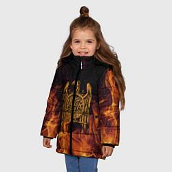 Куртка зимняя для девочки Slayer: Fire Eagle цвета 3D-черный — фото 2