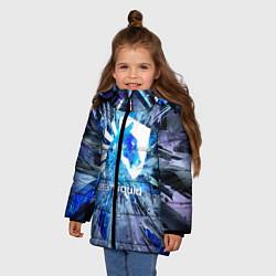Куртка зимняя для девочки Team Liquid: Splinters цвета 3D-черный — фото 2