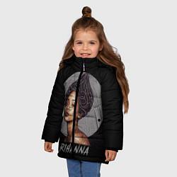 Куртка зимняя для девочки Rihanna цвета 3D-черный — фото 2