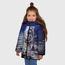 Куртка зимняя для девочки Starfield: Astronaut цвета 3D-черный — фото 2