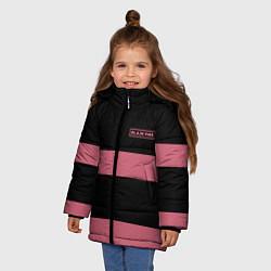 Куртка зимняя для девочки Black Pink: Logo цвета 3D-черный — фото 2