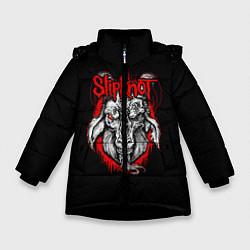 Куртка зимняя для девочки Slipknot Goat цвета 3D-черный — фото 1