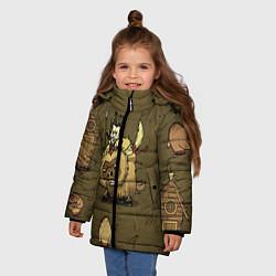 Куртка зимняя для девочки Wild Wilson цвета 3D-черный — фото 2