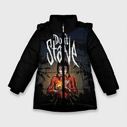 Куртка зимняя для девочки Willow Halloween цвета 3D-черный — фото 1