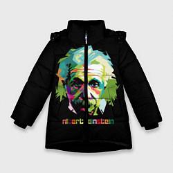 Куртка зимняя для девочки Albert Einstein цвета 3D-черный — фото 1