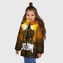 Куртка зимняя для девочки DOOM: Soldier цвета 3D-черный — фото 2