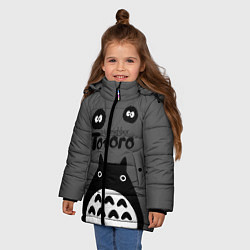 Куртка зимняя для девочки Тоторо рядом цвета 3D-черный — фото 2