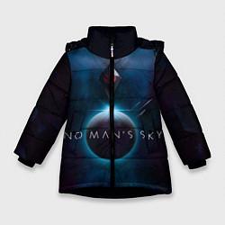 Куртка зимняя для девочки No Man's Sky: Dark Space цвета 3D-черный — фото 1