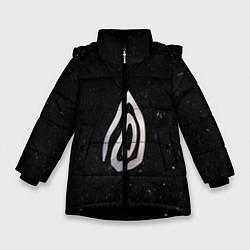Куртка зимняя для девочки True Detective: Black Symbol цвета 3D-черный — фото 1