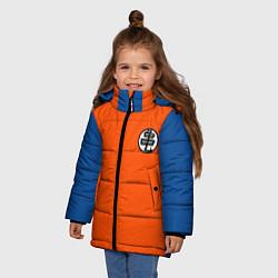 Куртка зимняя для девочки DBZ: Kame Senin Kanji Emblem цвета 3D-черный — фото 2
