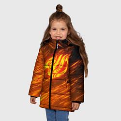 Куртка зимняя для девочки NATSU DRAGNEEL цвета 3D-черный — фото 2