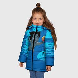 Куртка зимняя для девочки Smells Like: Dragon Ball Z цвета 3D-черный — фото 2