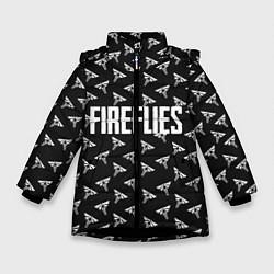 Куртка зимняя для девочки Fireflies цвета 3D-черный — фото 1