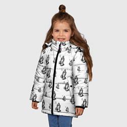 Куртка зимняя для девочки Drake - six цвета 3D-черный — фото 2