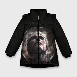 Куртка зимняя для девочки Death Stranding: Mads Mikkelsen цвета 3D-черный — фото 1