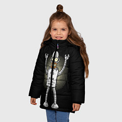 Куртка зимняя для девочки Kill All Humans цвета 3D-черный — фото 2