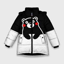 Куртка зимняя для девочки Kumamon Surprised цвета 3D-черный — фото 1