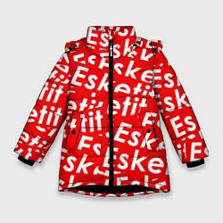 Куртка зимняя для девочки Esketit Pattern цвета 3D-черный — фото 1