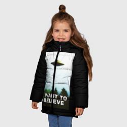 Куртка зимняя для девочки I Want To Believe цвета 3D-черный — фото 2