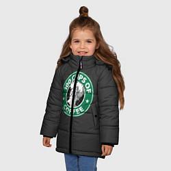 Куртка зимняя для девочки 100 cups of coffee цвета 3D-черный — фото 2