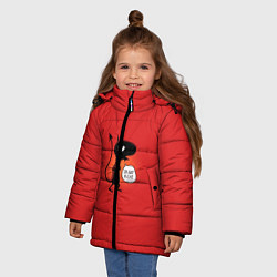 Куртка зимняя для девочки Disenchantment: I'm not a Cat цвета 3D-черный — фото 2