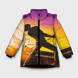 Куртка зимняя для девочки Bohemian Rhapsody цвета 3D-черный — фото 1